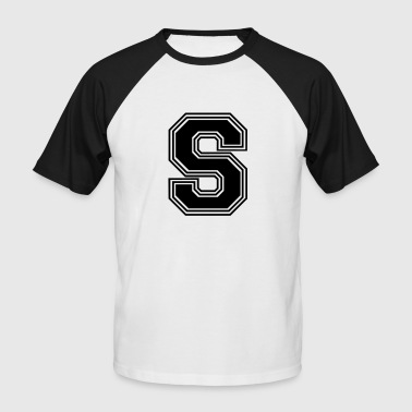 S_letter_S_(w31) - Men's Baseball T-Shirt