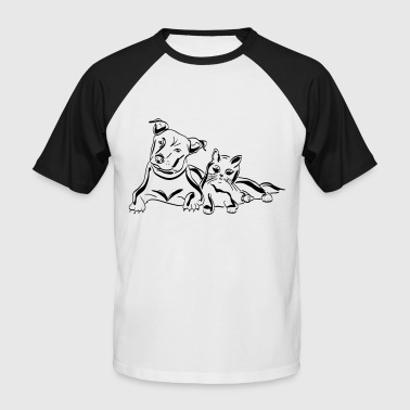 dog and cat - Men's Baseball T-Shirt