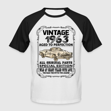 Vintage 1963 Aged To Perfection VINTAGE 1963-AGED TO PERFECTION - Men's Baseball T-Shirt