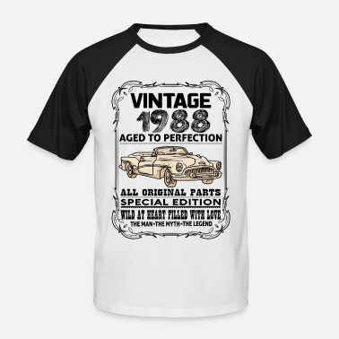 1988 Aged VINTAGE 1988-AGED TO PERFECTION - Men's Baseball T-Shirt