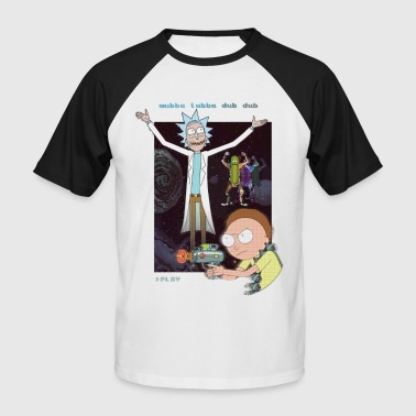 Geek Rick and Morty Retro Video Game - Men's Baseball T-Shirt