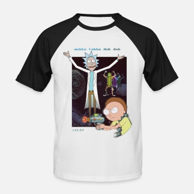 Rick and Morty Retro Video Game - Baseball T-shirt herr