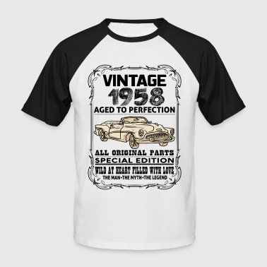 VINTAGE 1958-AGED TO PERFECTION - Men's Baseball T-Shirt