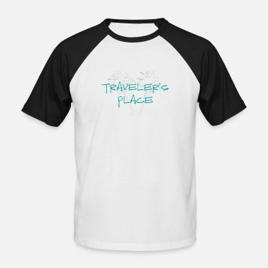Cool Traveler's Place Palm Design - Männer Baseball T-Shirt