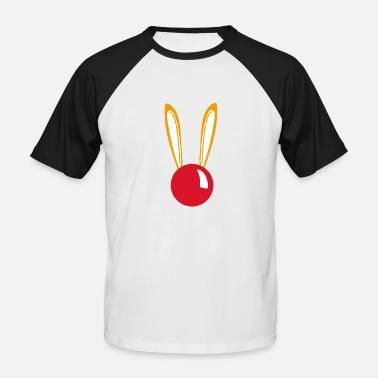 Red Nose Red nose bunny with ears - Men's Baseball T-Shirt