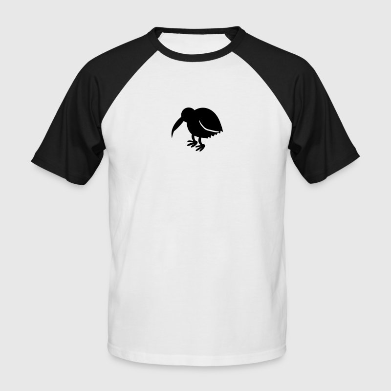 kiwi bird with long beak cute NEW ZEALAND - Männer Baseball-T-Shirt