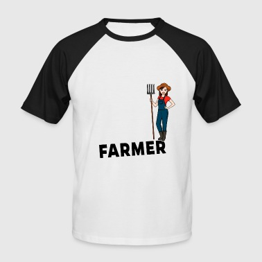 Female Farmer - One of a kind - Men's Baseball T-Shirt