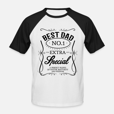 Best Dad BEST DAD - Men's Baseball T-Shirt