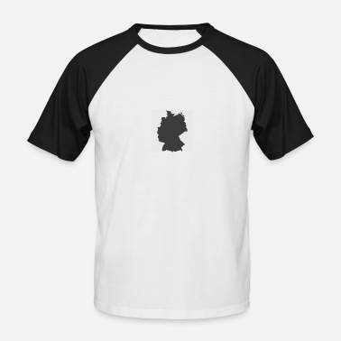 Germany from above - Men's Baseball T-Shirt