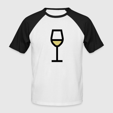 White wine glass, white wine - Men's Baseball T-Shirt
