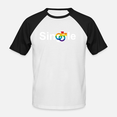 Lesben Tee Gay Single - Männer Baseball-T-Shirt