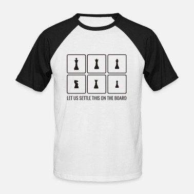Chess Board Chess board player gift figures game idea - Men's Baseball T-Shirt