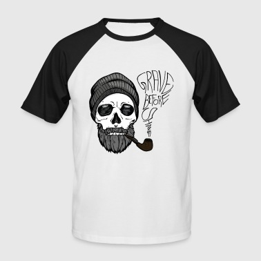 Grave before shave - beard design - 100% beard - Men's Baseball T-Shirt