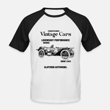 Voiture Ancienne Voitures anciennes - T-shirt baseball manches courtes Homme