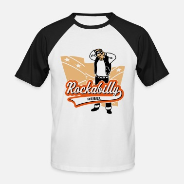 50s Rockabilly Rockabilly Rebel - Men's Baseball T-Shirt