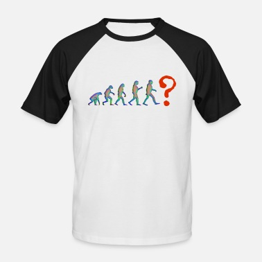 Evolution question mark evolution - Men's Baseball T-Shirt