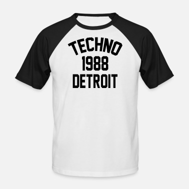 Detroit Techno Techno 1988 Detroit - Men's Baseball T-Shirt
