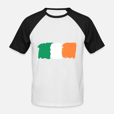 Highrise Building Irish Flag - Men's Baseball T-Shirt