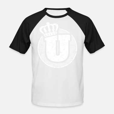 Stylish Letters Stylish letter U with crown - Men's Baseball T-Shirt