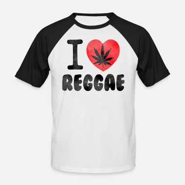 Reggae Ragga Reggae T-Shirt I love raggae - Men's Baseball T-Shirt