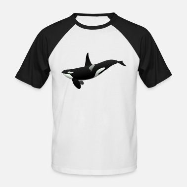 Killer Oki the orca killer whale - Men's Baseball T-Shirt