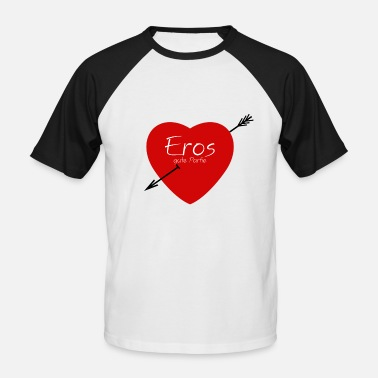 Erotic Heart Heart, Eros, Erotic, Love, Woman, Man, Cupid, Cool - Men's Baseball T-Shirt