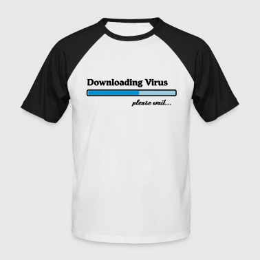 Download downloading virus... - Koszulka bejsbolowa męska