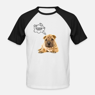 Fold Fold dog shirt, fold dog - Men's Baseball T-Shirt