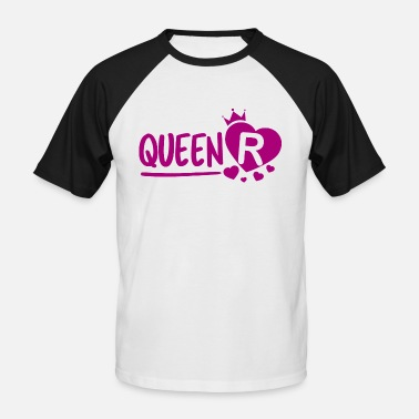 Heart R Queen R - Men's Baseball T-Shirt