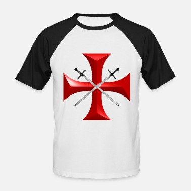 Knights Templar Cross templar - Men's Baseball T-Shirt