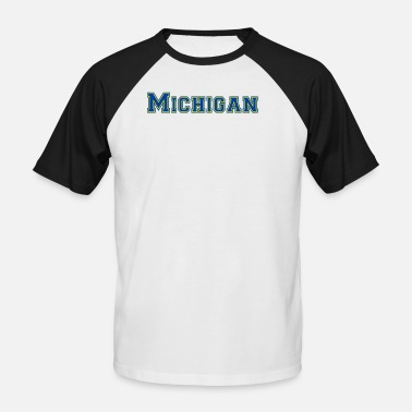Michigan Michigan - Kortærmet herre-baseballshirt