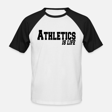 Atletica athletics is life - Men's Baseball T-Shirt