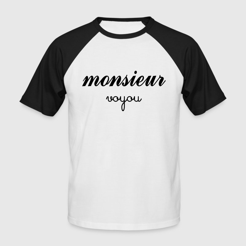 Monsieur Voyou - T-shirt baseball manches courtes Homme
