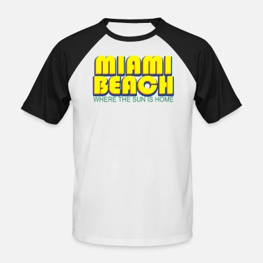 Miami Miami Beach 3D - USA - Men's Baseball T-Shirt