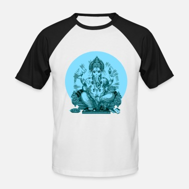 Trance FULL MOON * * TRANCE GOA * * PSY GANESHA - Men's Baseball T-Shirt