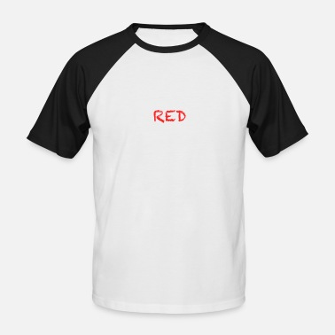 Diables Rouges rouge - T-shirt baseball manches courtes Homme