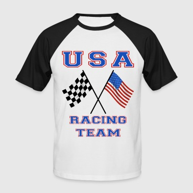 usa racing team - T-shirt baseball manches courtes Homme