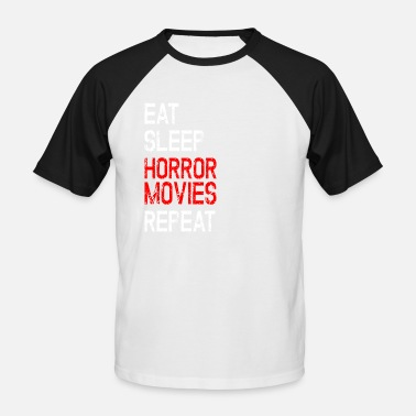 Film Horror film horror movie fan halloween regalo divertente - Maglia da baseball a manica corta da uomo