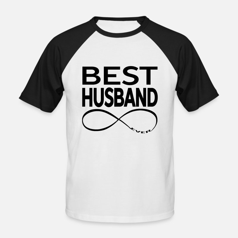 Couples T-Shirts - BEST HUSBAND EVER - Men's Baseball T-Shirt white/black
