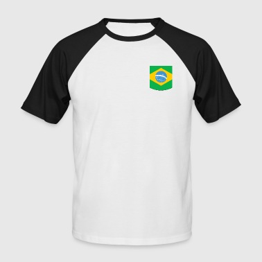 BRAZIL breast pocket - Men's Baseball T-Shirt