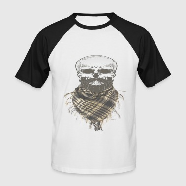 Skull With Military Shemagh Head Neck Scarf - Men's Baseball T-Shirt