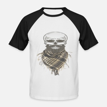 Ebay Skull With Military Shemagh Head Neck Scarf - Men's Baseball T-Shirt