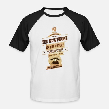 Vintage Collection The new vintage phone - Men's Baseball T-Shirt