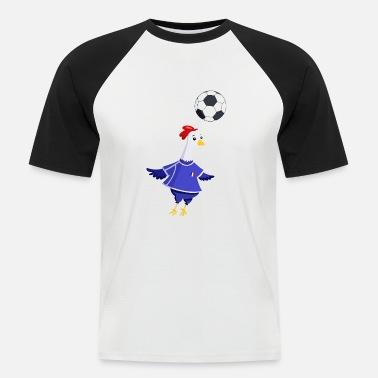 0877bbc297fbc Coq Français Coq français foot - T-shirt baseball manches courtes Homme