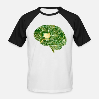 Tech Digital Brain - Männer Baseball-T-Shirt