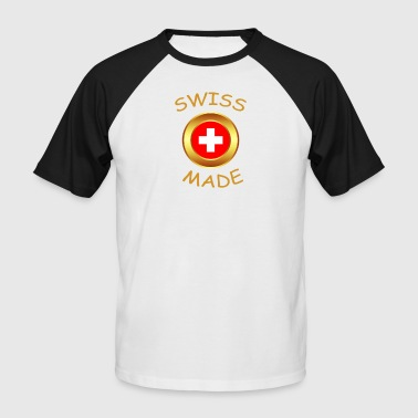 SWISS MADE - T-shirt baseball manches courtes Homme