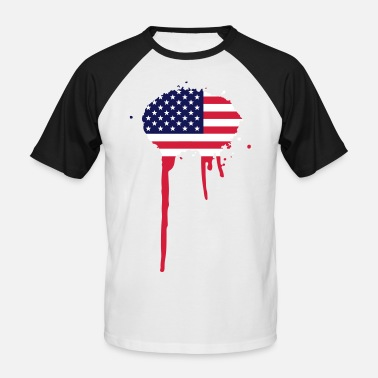 Drapeaux Splash United Splash of America - drapeau - T-shirt baseball manches courtes Homme