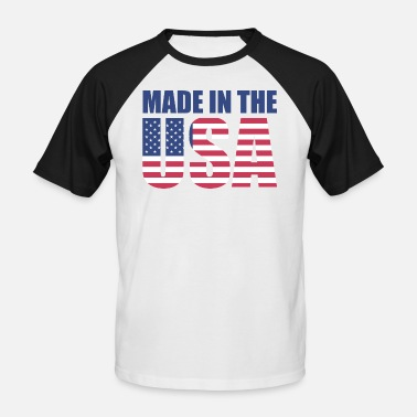 Stars And Stripes USA America Flag Stars and Stripes Made in USA - Men's Baseball T-Shirt