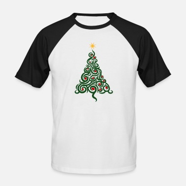 Arbre De Noël Arbre de Noël Arbre de Noël - T-shirt baseball manches courtes Homme
