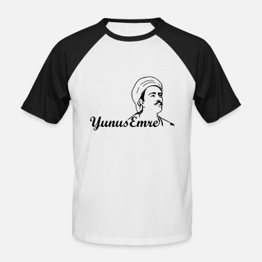 Ascetic Yunus Emre - folk poet - Men's Baseball T-Shirt